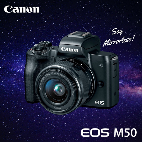 canon m50 mirrorless + lente 15-45mm cuotas - inteldeals