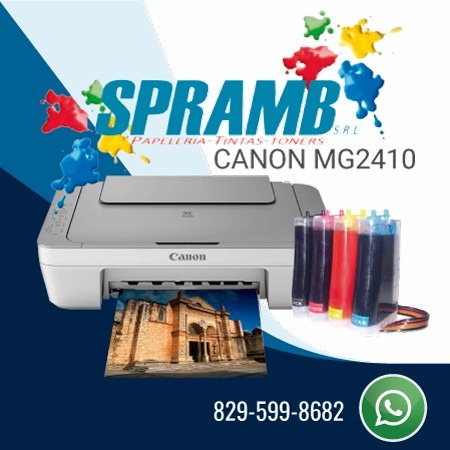 canon mg 2410 + sistema de tintas continuo
