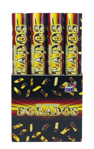 cañon / mortero lanza papelitos de aire comprimido - dorado