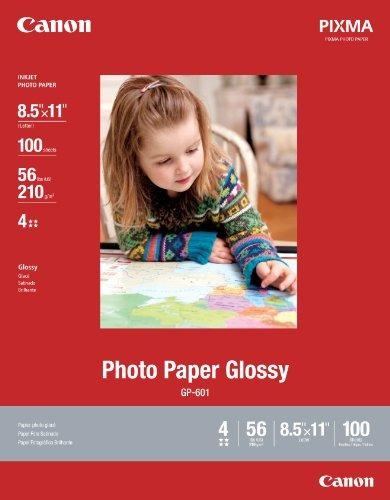 canon papel fotográfico brillante tamaño carta, gp hojas (8