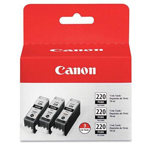 canon pgi-220 combo pack - paquete triple (negro)