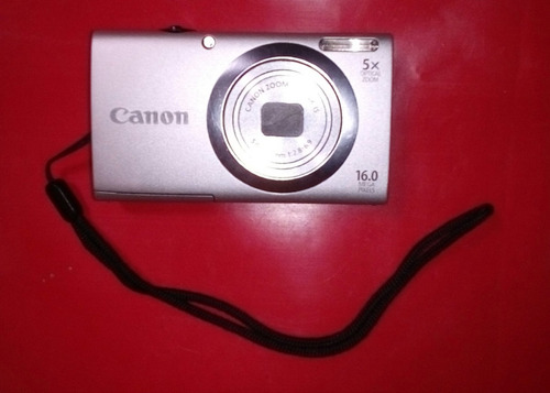 canon power shot a2400 is + cargador+ estuche y cables