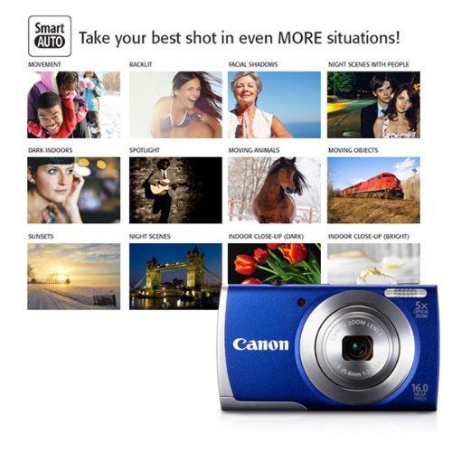 canon powershot a2600 is 16.0 mp cámara digital con zoom...