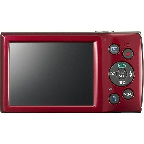 canon powershot elph 180 cámara digital (rojo) con 32gb tar