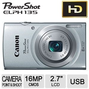 canon powershot elph135 16mp 8x hd+ sd 4gb + estuche