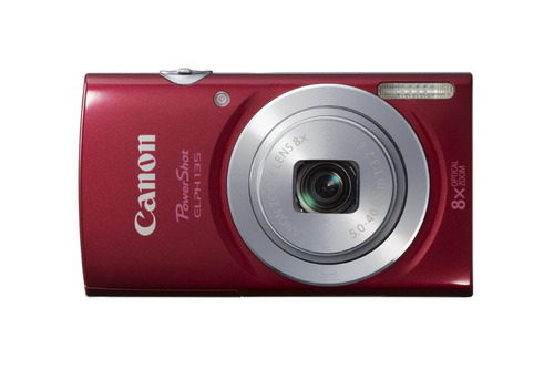 canon powershot elph135 cámara digital (rojo)