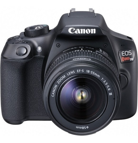 canon rebel t6 c/ 18-55mm + 50mm +32gb + bolsa + tripé