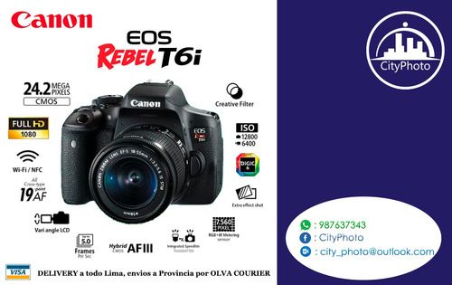 canon rebel t6i con 18-55 is stm