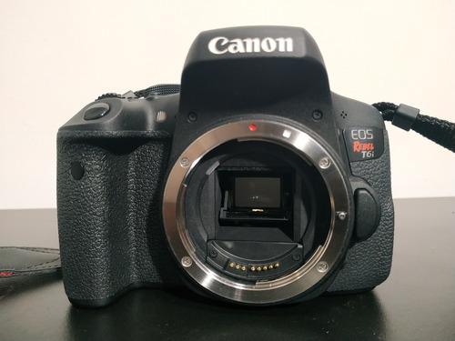 canon rebel t6i + yongnuo 35mm + 3 cartões de 32gb + bag