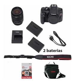 Canon Rebel T7i C/ 18-55mm +64gb + Bolsa + Tripé+ Bat  Extra