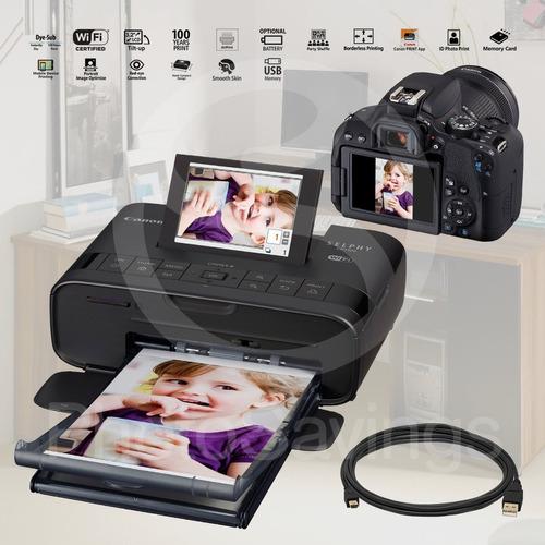 canon selphy cp1300compact photo printer, negro