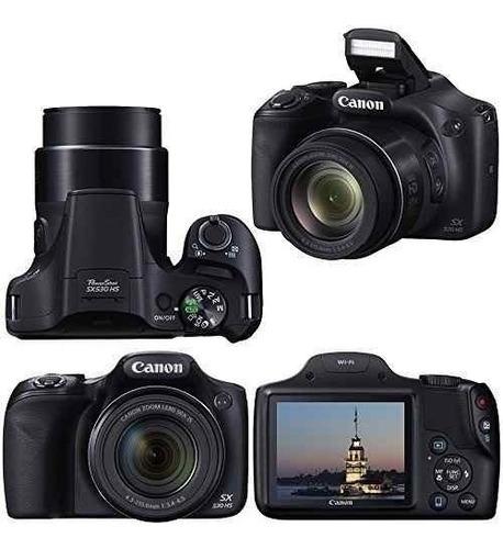 canon sx530 zoom 50x full hd wifi + bolso + memoria 32gb c10