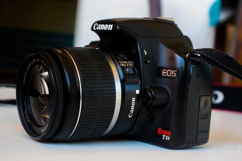 canon t1i 15 mpx full hd con lente 18-55 is