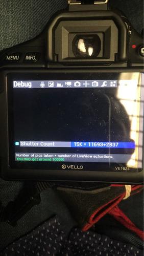 canon t3i como nueva 11.693 disparos