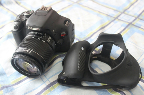 canon t3i + lente 18-55mm + capa de silicone + frete gratis