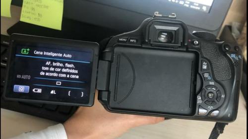 canon t3i + lente 18-55mm + carregador e bateria