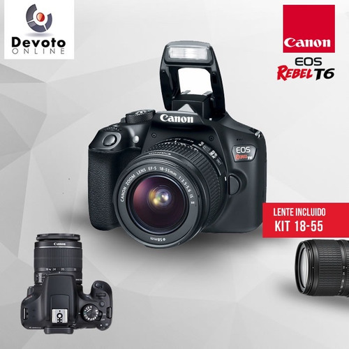 canon t6 kit 18-55 + memo en stock!!!!!