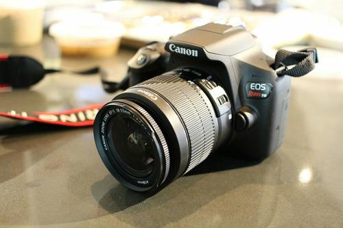 canon t6 lente 18-55 afs estabilizado faja cargador memoria