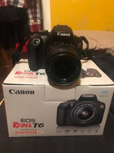canon t6 + lente 18-55 +sd classe 10 64gb