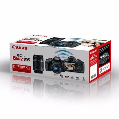 canon t6 premium kit +18-55mm +55-250 revend autoriz canon