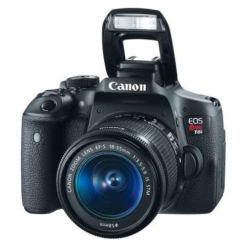 canon t6i - 18-55mm+filtro uv+parasol & 50mm f/1.8
