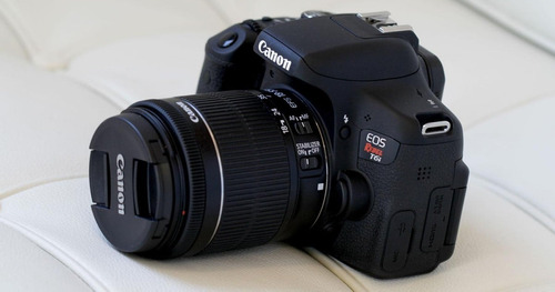 canon t6i eos rebel dslr 24.2 mp- wifi + 3 lentes