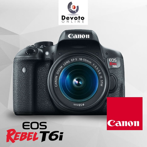 canon t6i kit 18-55 bolso y memoria 16gb en stock