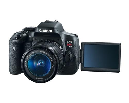 canon t6i kit 18-55+hdmi+wi-fi +full hd+ bolso + envio  gtia