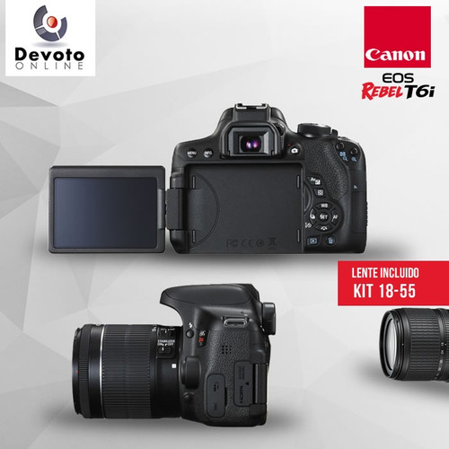 canon t6i kit 18-55 + memo 16gb clase 10 en stock !!!!!!!!