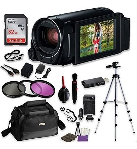 canon vixia hf r82 cámara de vídeo profesional con haz de