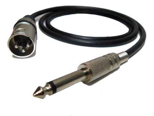 canon xlr macho a plug 6,5 macho x 1mts