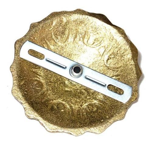 canopla para lustres base suporte completo - bronze