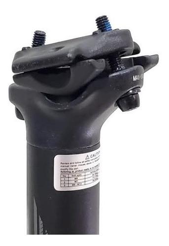 canote de selim brave  alumínio 31.6mm 350mm offset 10