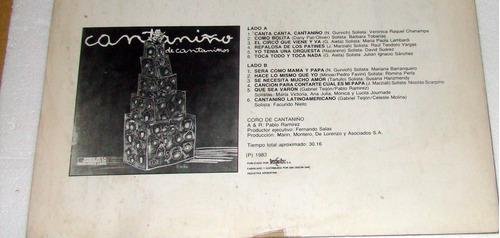 cantaniño de cantaniños lp argentino promo