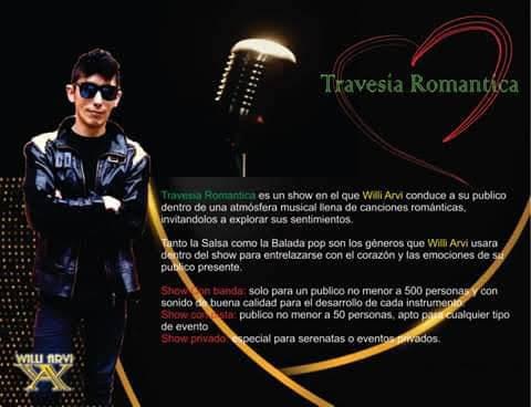 cantante de salsa romantica con orquesta willi arvi