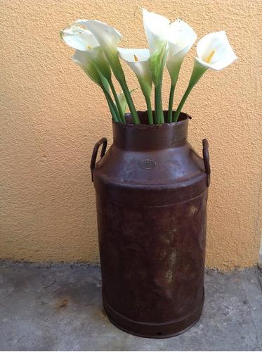 cantaro leche bote lechero lamina antiguo vintage decoracion