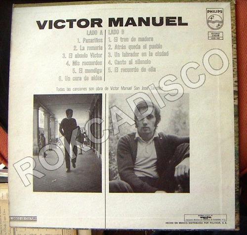 cantautor, victor manuel 1, lp 12´,