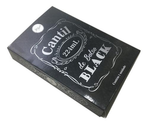 cantil de bolso inox black 224ml