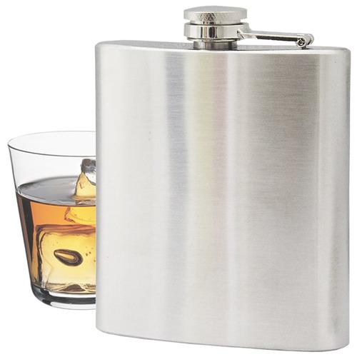 cantil em aço inox 200 ml porta bebidas whisky/vodka/pinga
