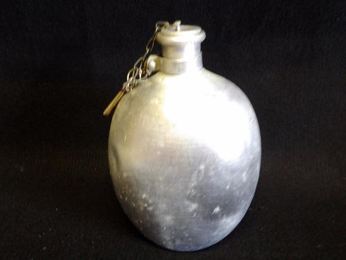 cantil militar em aluminio cap. 1,3 litros