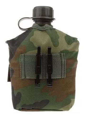 cantil militar tático térmico 1 litro caneca de alumínio