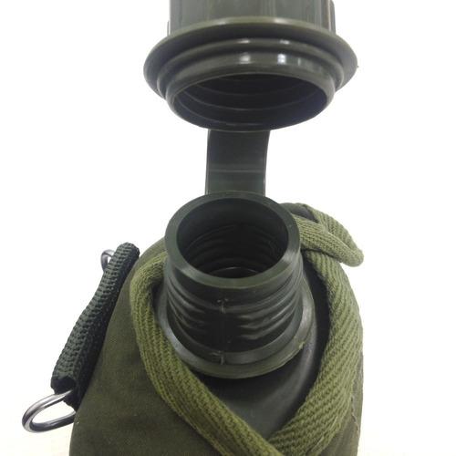 cantil nautika camping outdoor militar verde 0,9 l com capa
