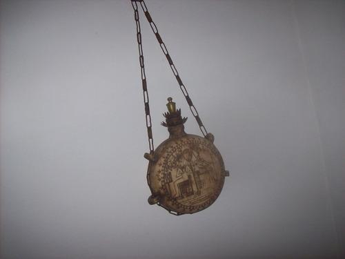 cantimplora egipcia en ceramica y bronce