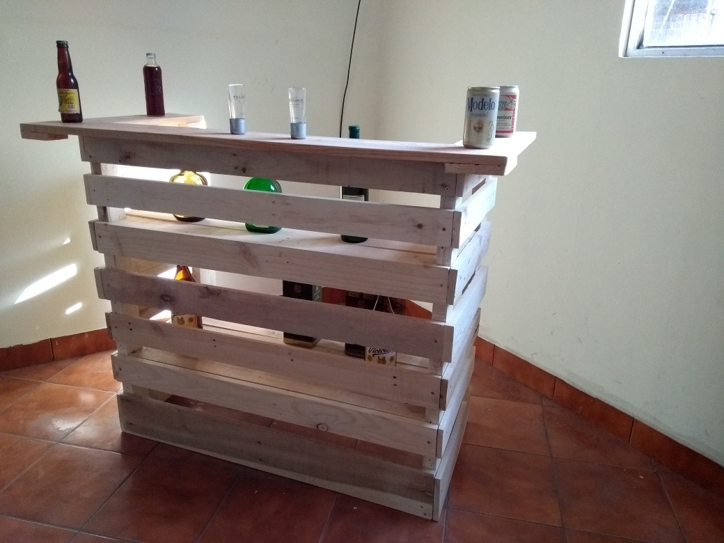 Cantina barra de palets 1 en mercado libre - Como hacer una barra con palets ...