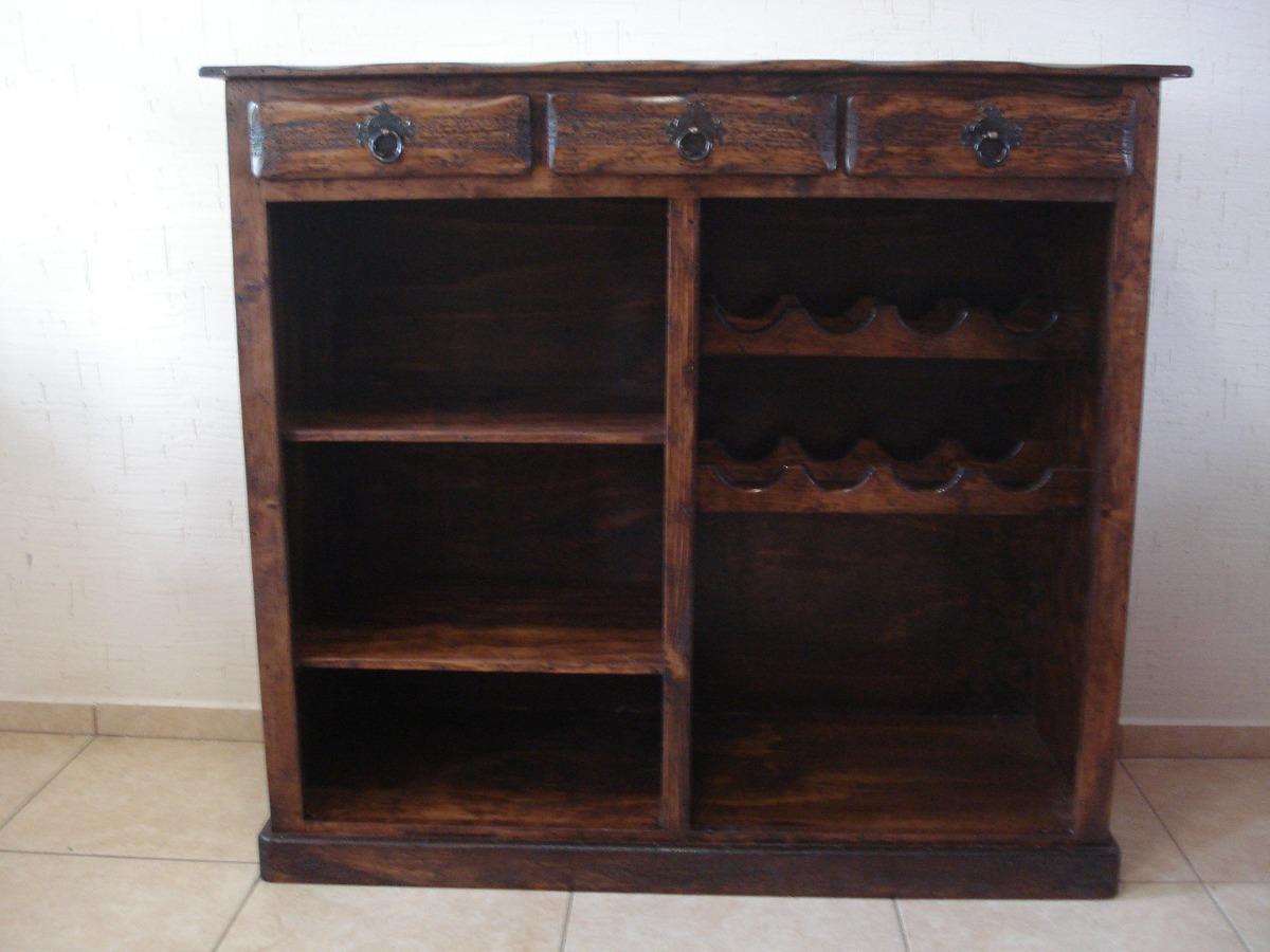 Cantina barra r stica madera de pino excelente calidad 3 en mercado libre - Muebles para vino ...