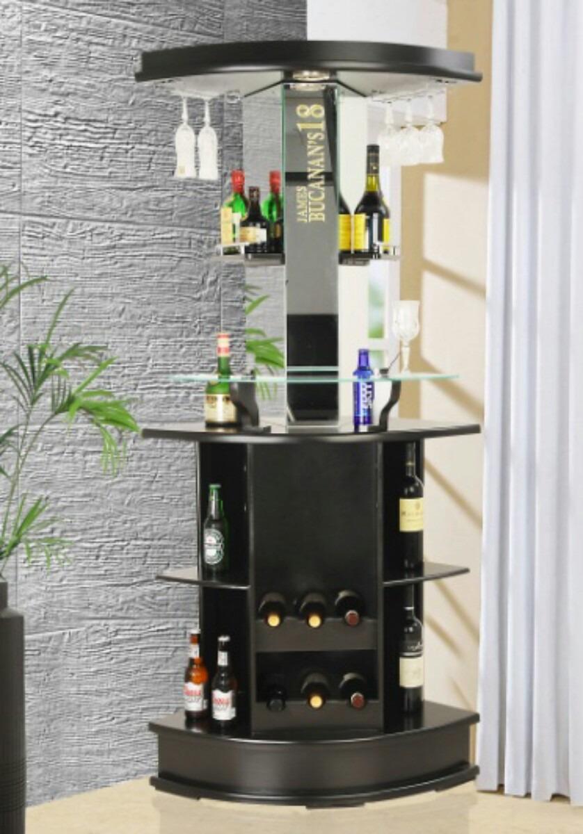 Cantina moderna esquina luz p botellas y copas barra vinos for Mueble bar moderno para casa