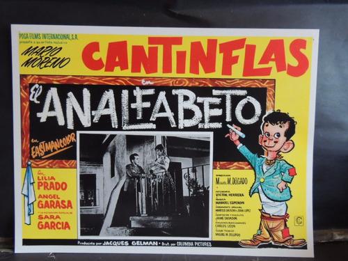 cantinflas el analfabeto lobby card / cartel
