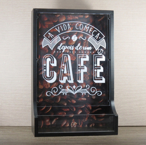 cantinho do café porta cápsulas expresso madeira e acrílico