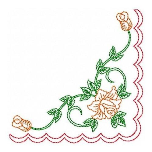 cantinhos colorwork 001 - coleção de matriz de bordado