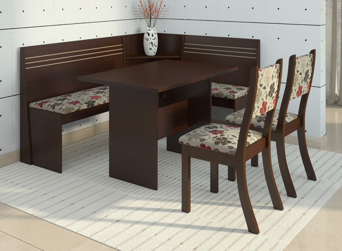 Banco Branco Sala De Jantar ~ Canto Alemão Com 2 Cadeiras Scan Siena Móveis  R$ 399,90 em Mercado